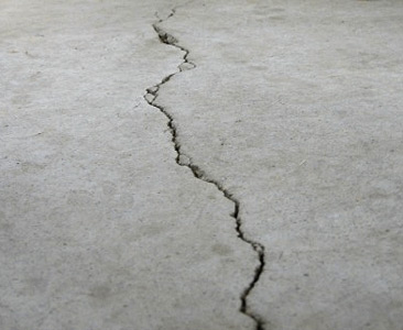 cracks in concrete floor